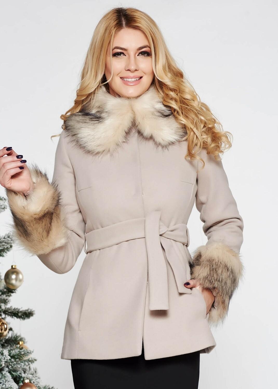 Beige Short Coat