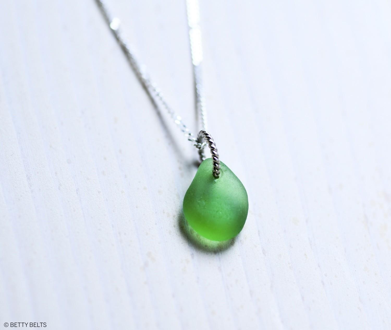 LULU Sea Glass Charm Necklace