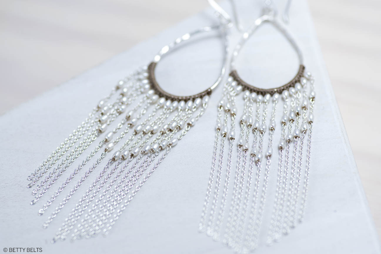 Pearl Honeymoon Earrings