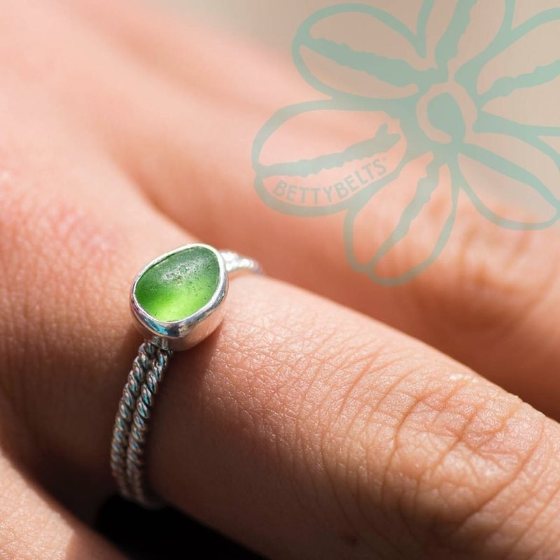 Sea Glass Double Twist Ring (ANNALIE)