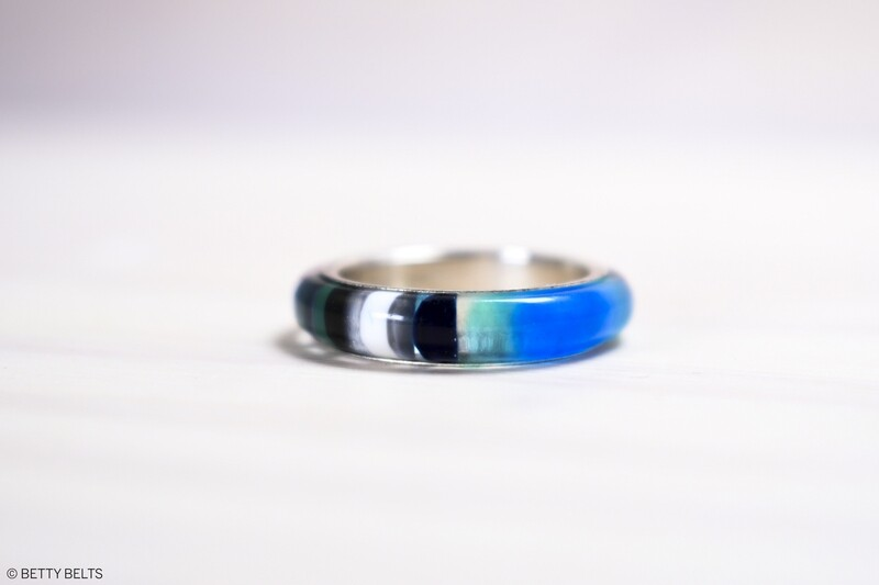 Upcycled Surfite + Sterling Ring (SPINNER)