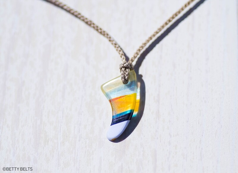 Upcycled Surfite Charm Necklace (FIN)