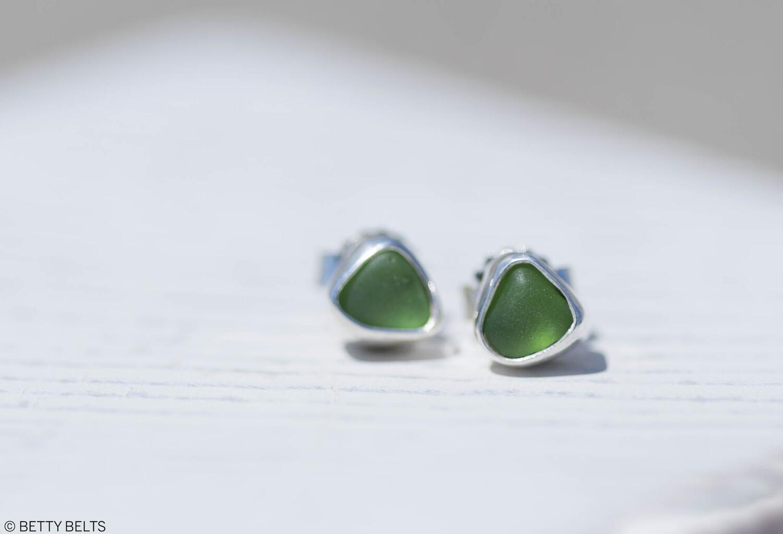 Sea Glass Earrings (STUDS)