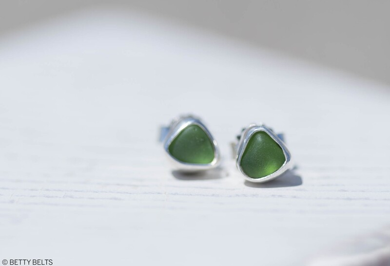 Sea Glass Earrings (STUDS)