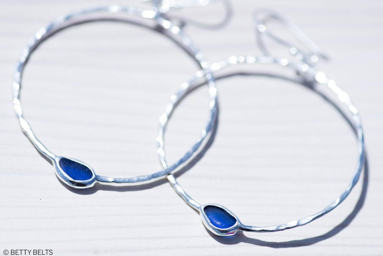 LEILANI Sea Glass Hoop Earrings