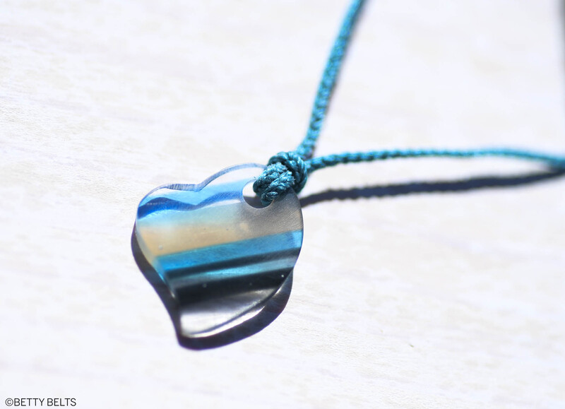 Upcycled Surfite Charm Necklace (HEART)