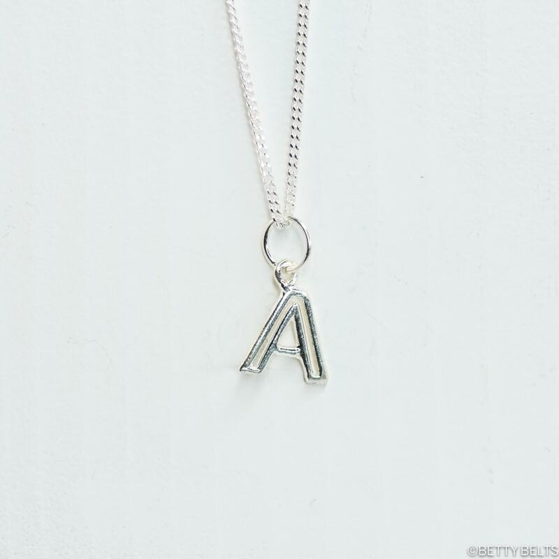 Alphabet Letter Charm Necklace