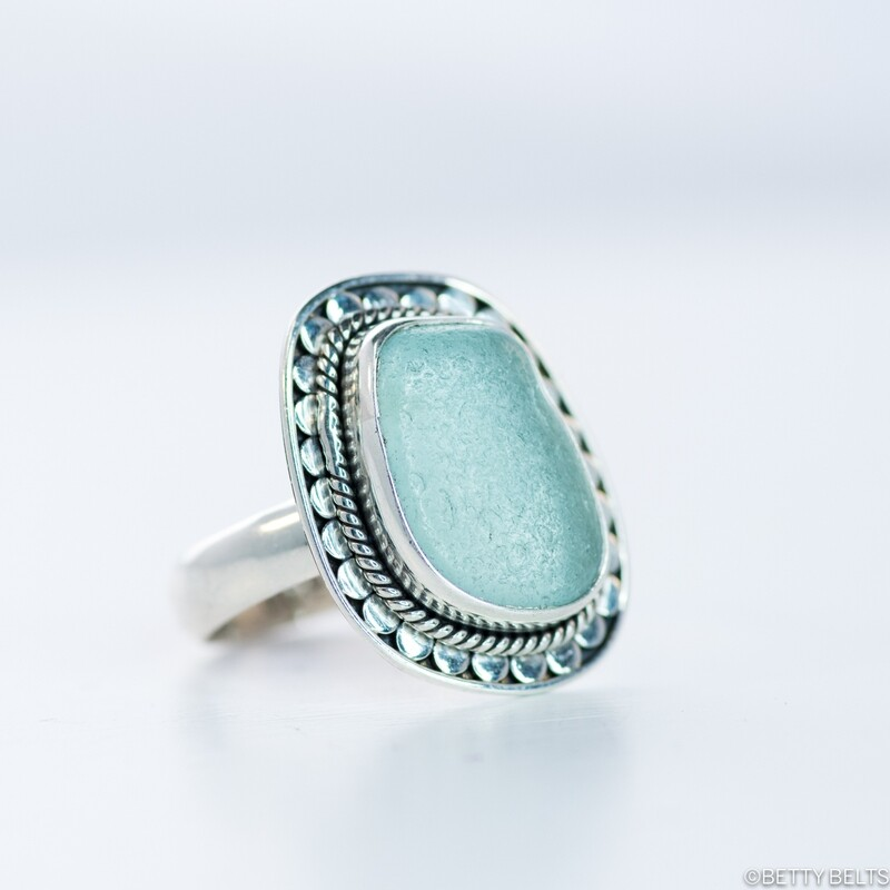 CAYDEN Sea Glass Ring
