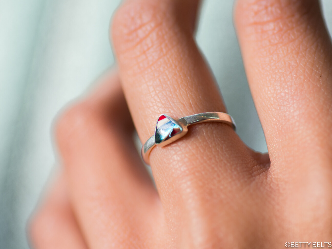 Upcycled Surfite + Sterling Ring (TAY)