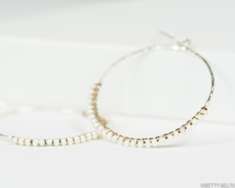 Pearl Hoops (JACQUELINE)