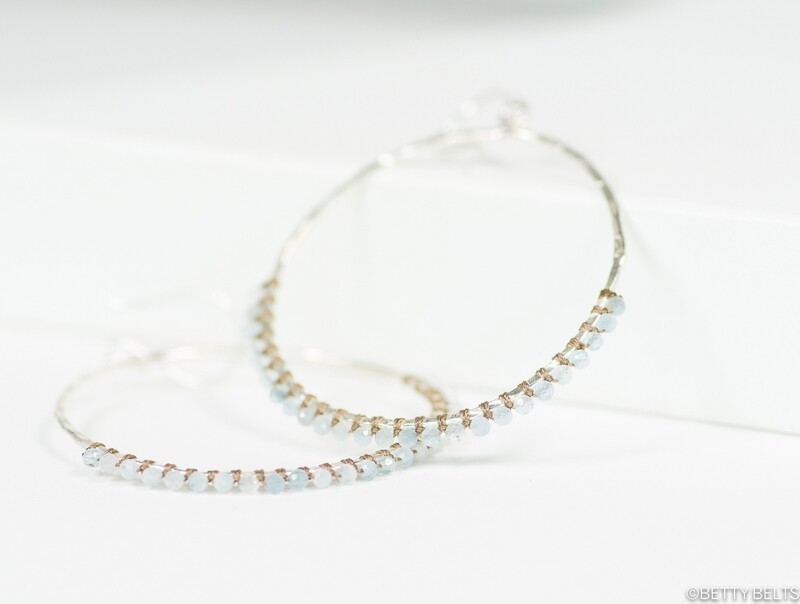 JACQUELINE Gemstone Hoops