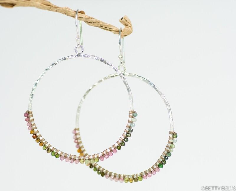 JACQUELINE Gemstone Hoops