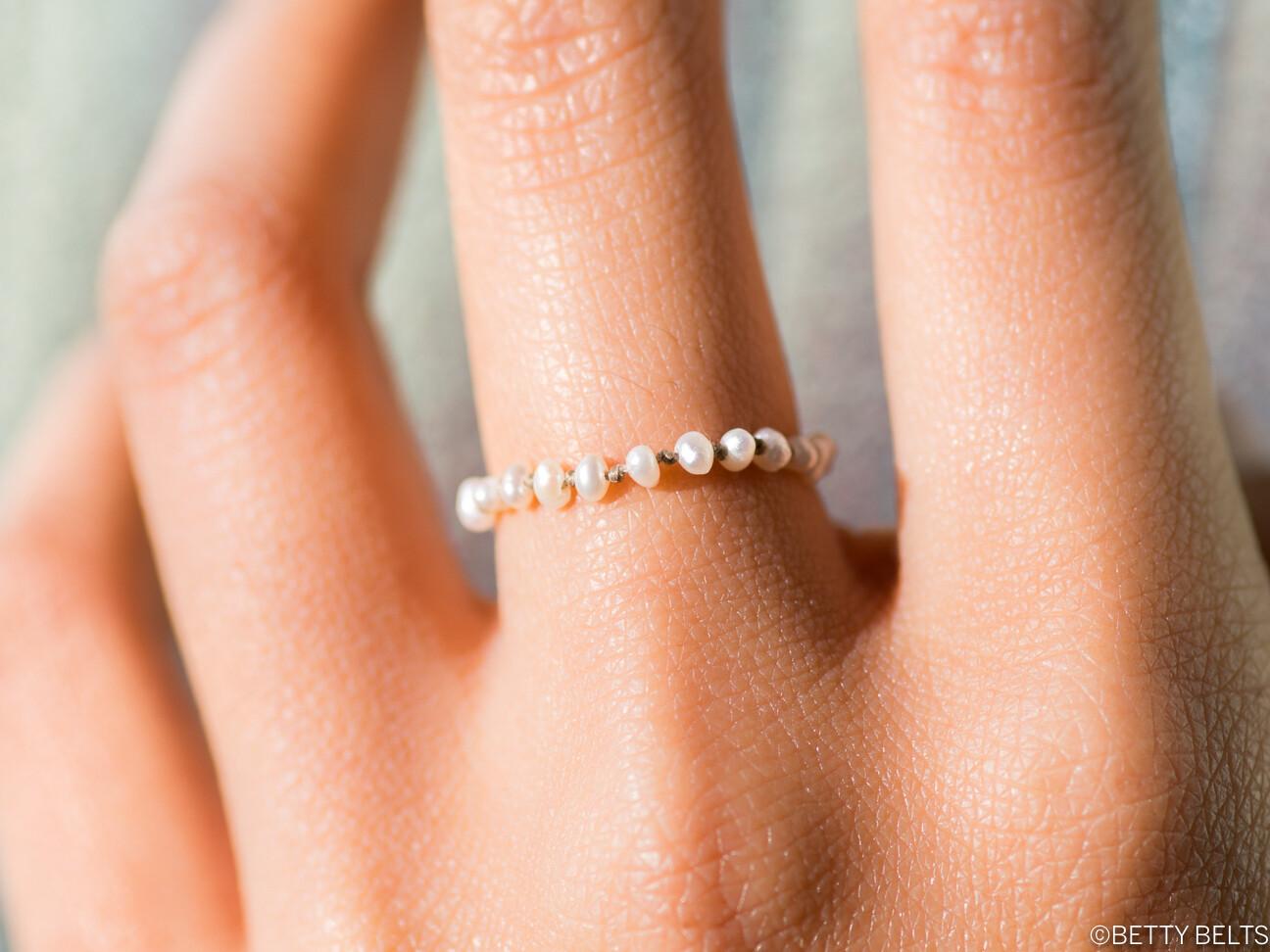 Pearl Stacking Ring (LAUREN)