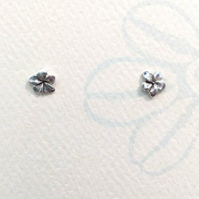 Plumeria Stud Earrings