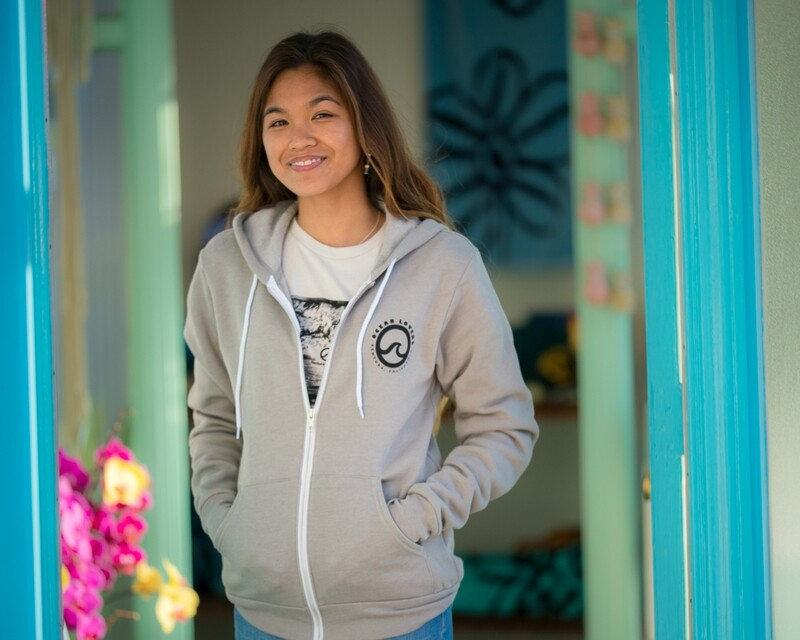 Ocean Lovers® Zip Hoodie + Circle Wave Sticker