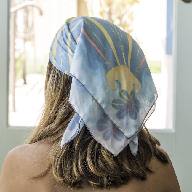 Betty Sunshine & Waves Silk Scarf