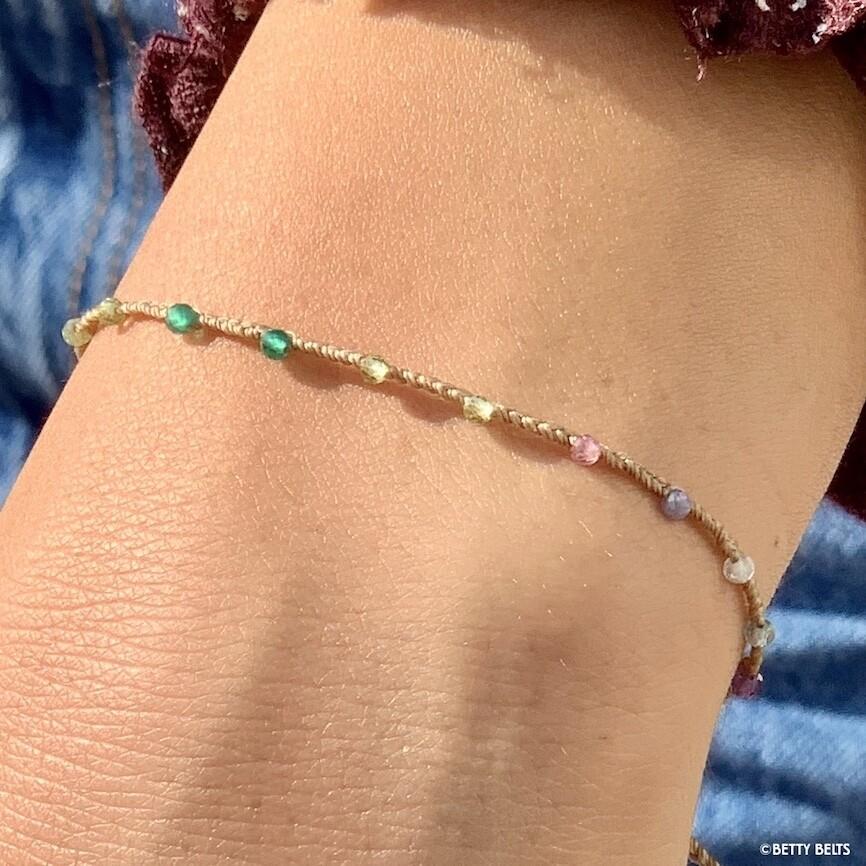 ADINA Rainbow Gemstone Bracelet