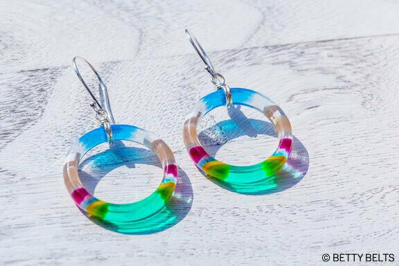 Upcycled Surfite Hoop Earrings (MINI)
