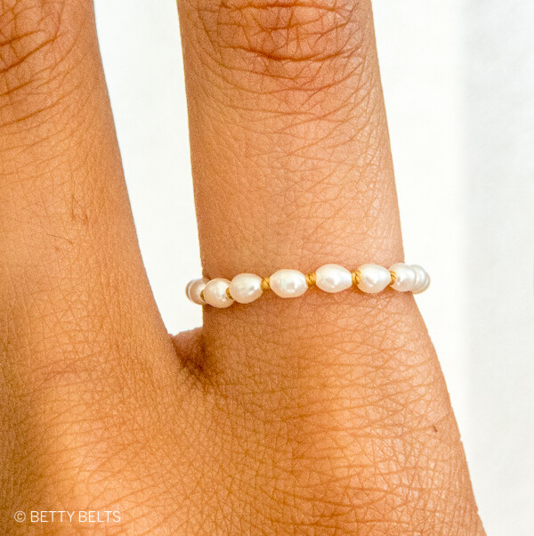 JACKIE Pearl + Gold Ring