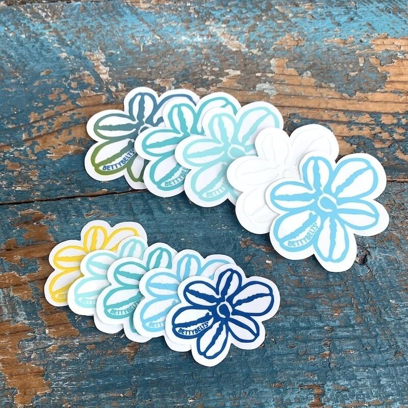 Betty Flower Stickers Ocean Pack