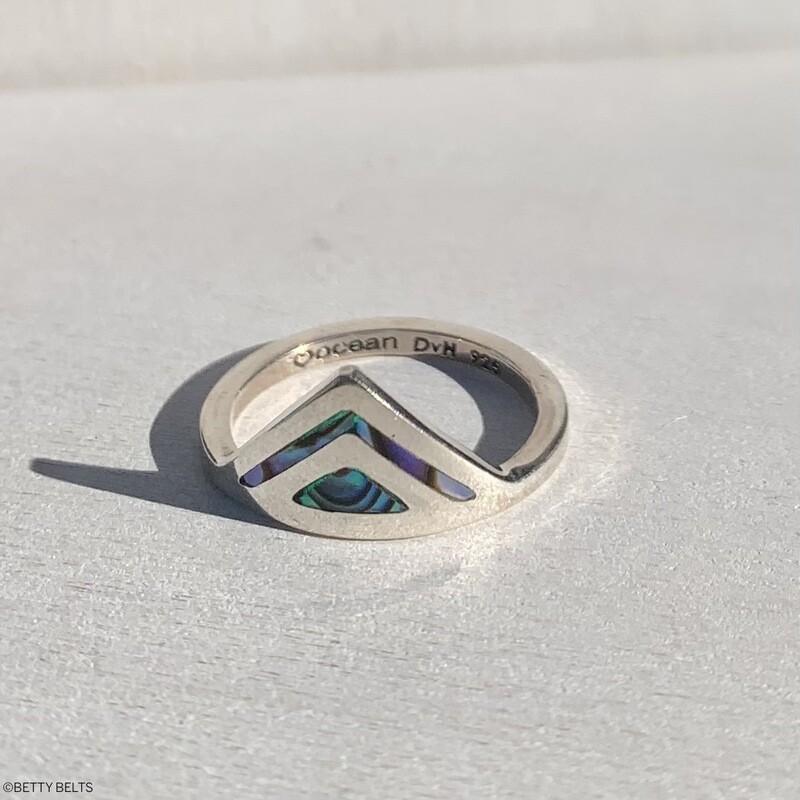 Abalone Double Peak Ring