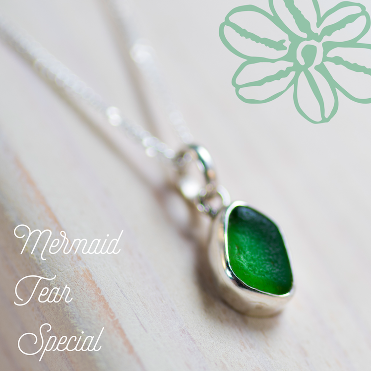 Mermaid Tear Sea Glass Charm
