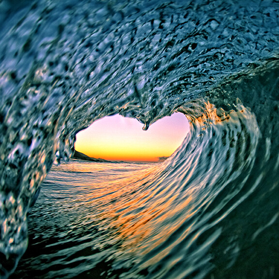 """8""""x8"""" Wave Heart Canvas Wrap Photographic Print by David Pu'u (click to see more options)"""