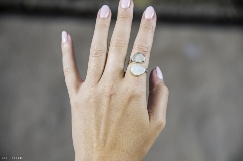 Better Together Ring (Sea Glass + Shell Version)