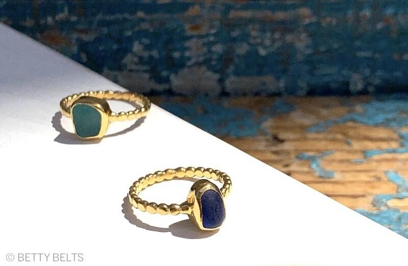 SIERRA Gold Vermeil Sea Glass Ring