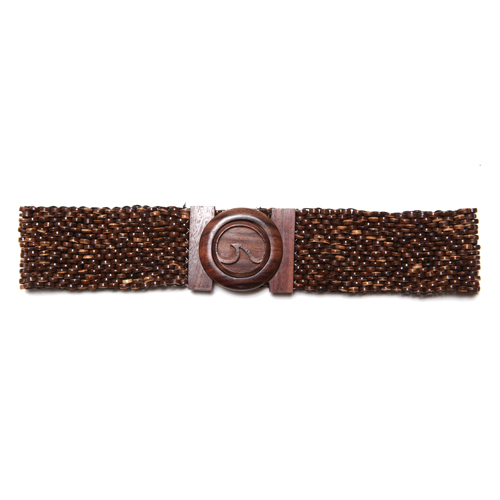 ZURI Wave Wood Stretch Belt
