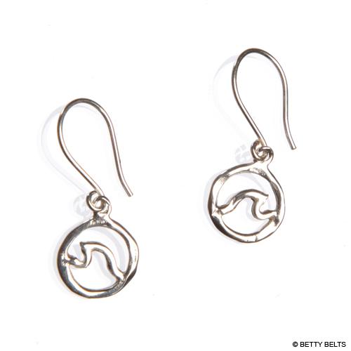 Circle Wave Earrings (Dangle)