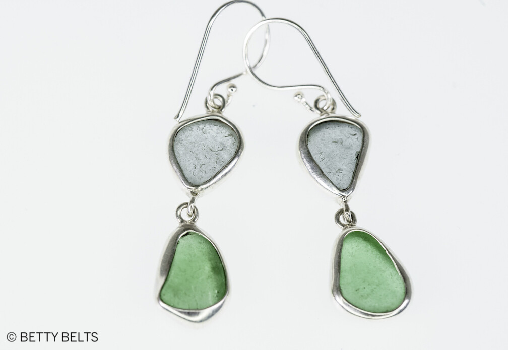 Sea Glass Double Drop Earrings (New Edition!)