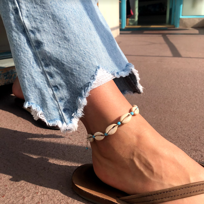 JOSS Cowry Shell Anklet