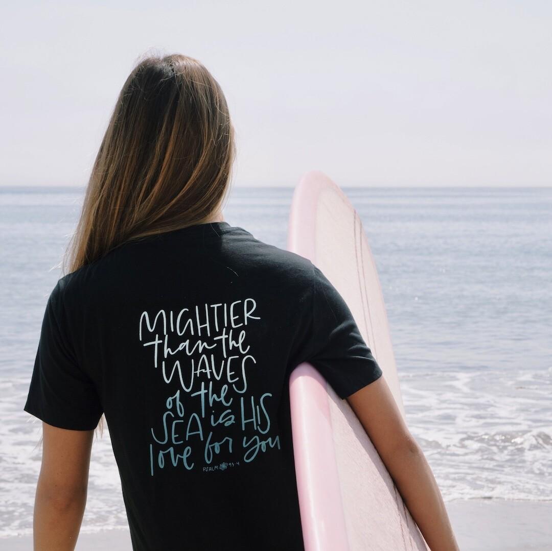 Ocean Lovers Psalm 93 Tee