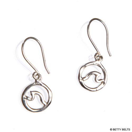Circle Wave Earrings (Dangle)