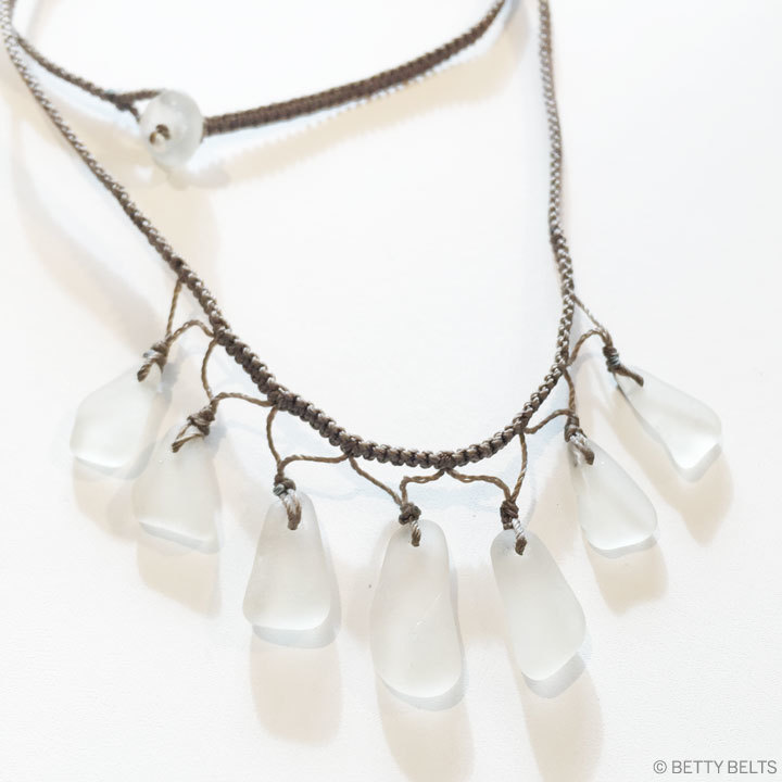 "Sea Glass Necklace (PLEIADES ""Seven Sisters"")"