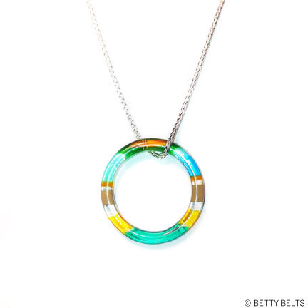 Upcycled Surfite + Sterling Necklace (RING)