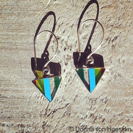 Upcycled Surfite Earrings (TAY DROPS)
