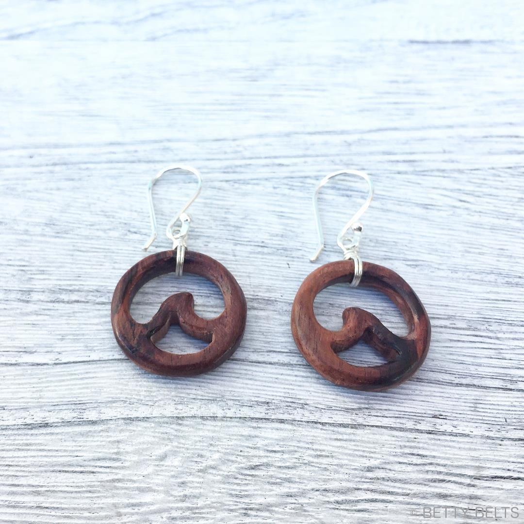 Wood Wave Earrings