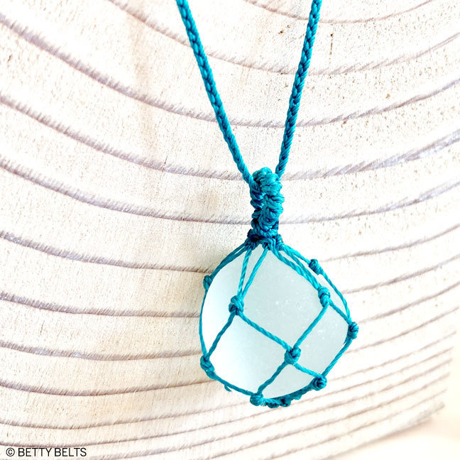 Sea Glass Necklace (FISHNET)