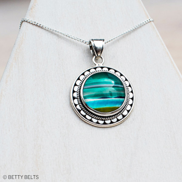 Upcycled Surfite + Sterling Necklace (CAYDEN)