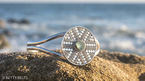 Jessica Sea Glass Cuff