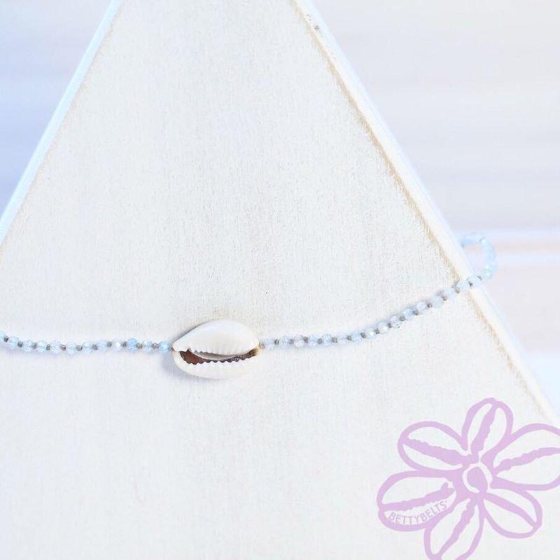Gemstone Cowry Anklet (LAUREN)