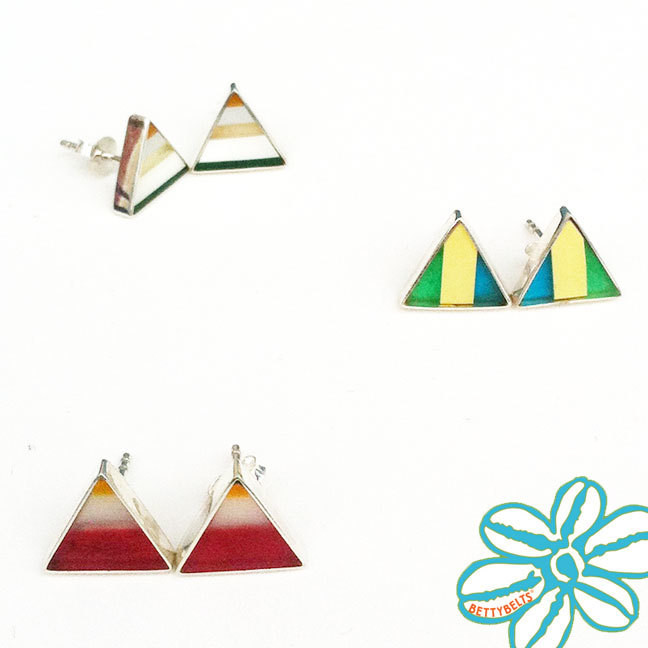 TAY STUDS Upcycled Surfite Earrings