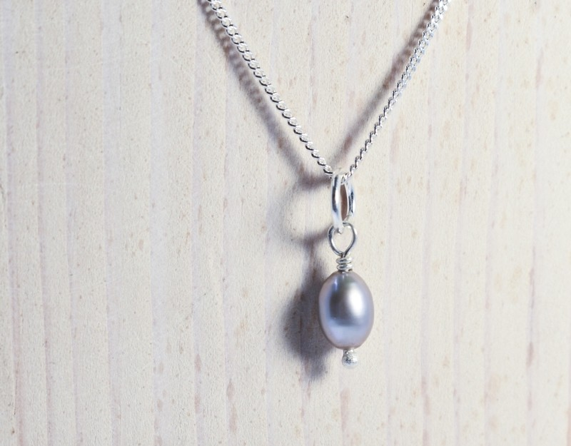 Classic Pearl Charm Necklace