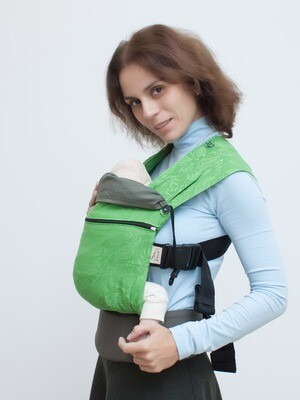 Baby carrier Karaush Leaves Summer/Khaki growing