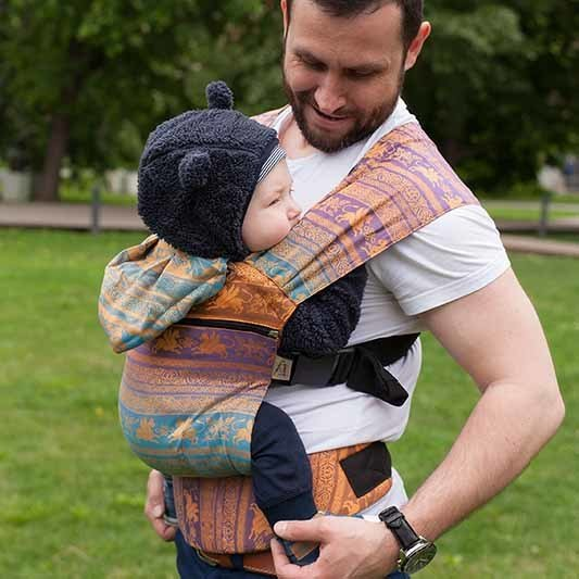 Growing baby carrier Karaush Kuzma Rainbow Opal