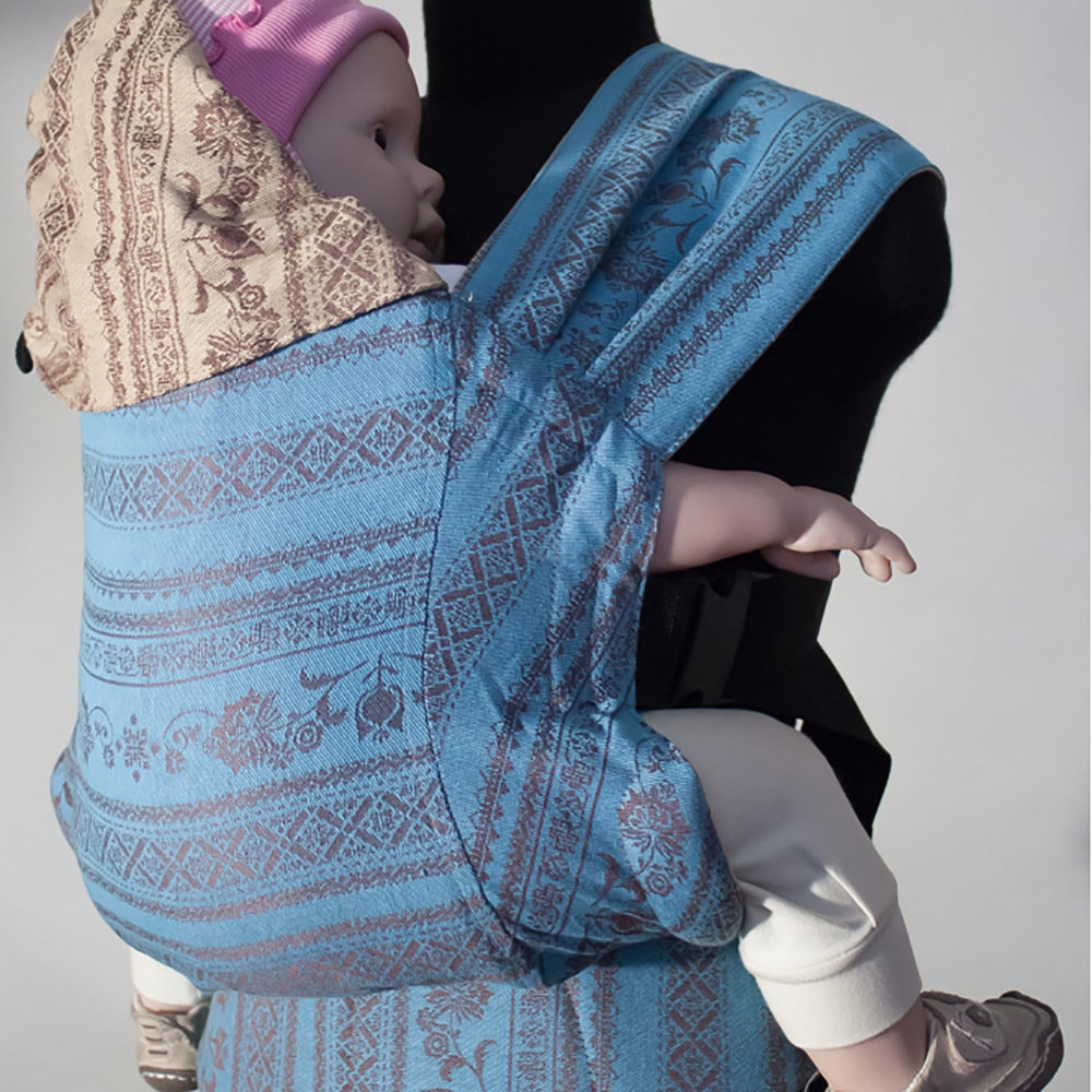 Эрго рюкзак Karaush Adel Toffee/Adel Turquoise(чер) двусторонней носки