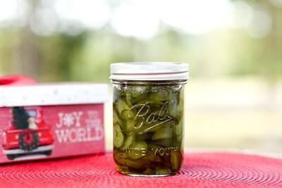 Homemade Sweet Cucumber Pickles - 1 Pint