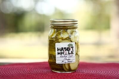 Homemade Kosher Dill Chips Pickles - 1 Pint